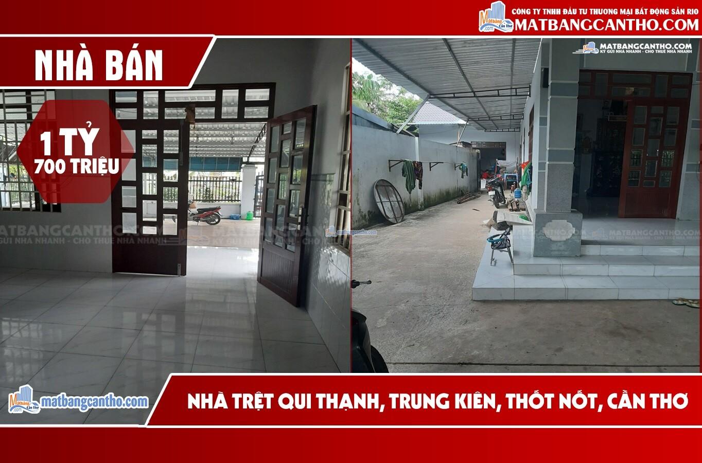 Bán nhà 454 m² Qui Thạnh 2 – Trung Kiên – Thốt Nốt – TPCT