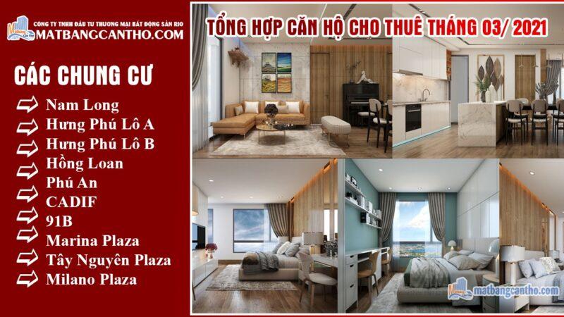 Căn hộ Cho Thuê Chung Cư Cần Thơ Giá Rẻ Tháng 03/2021