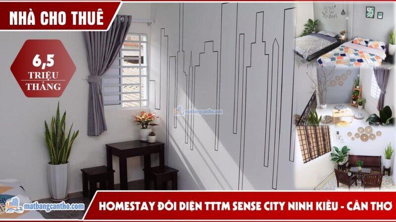 CHO THUÊ NHÀ ĐẸP TRỆT,LỬNG, LẦU CÓ NỘI THẤT CƠ BẢN ĐỐI DIỆN TTTM SENSE CITY ( COOP MART ) Cách bến Ninh Kiều 300m